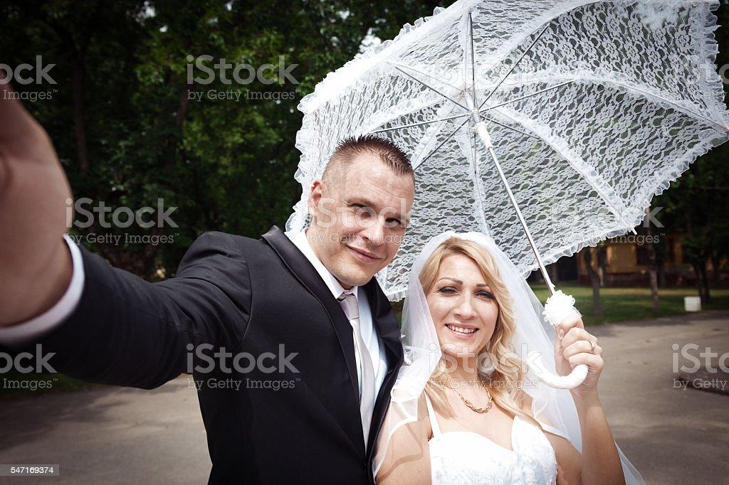 Wedding Selfi Outdoor stock photo
