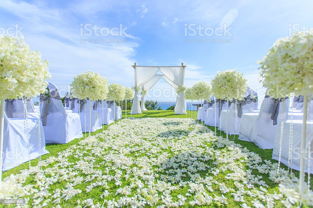 Wedding setting stock photo