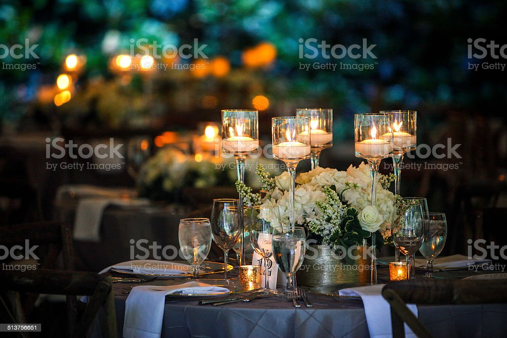 Wedding Setting stock photo