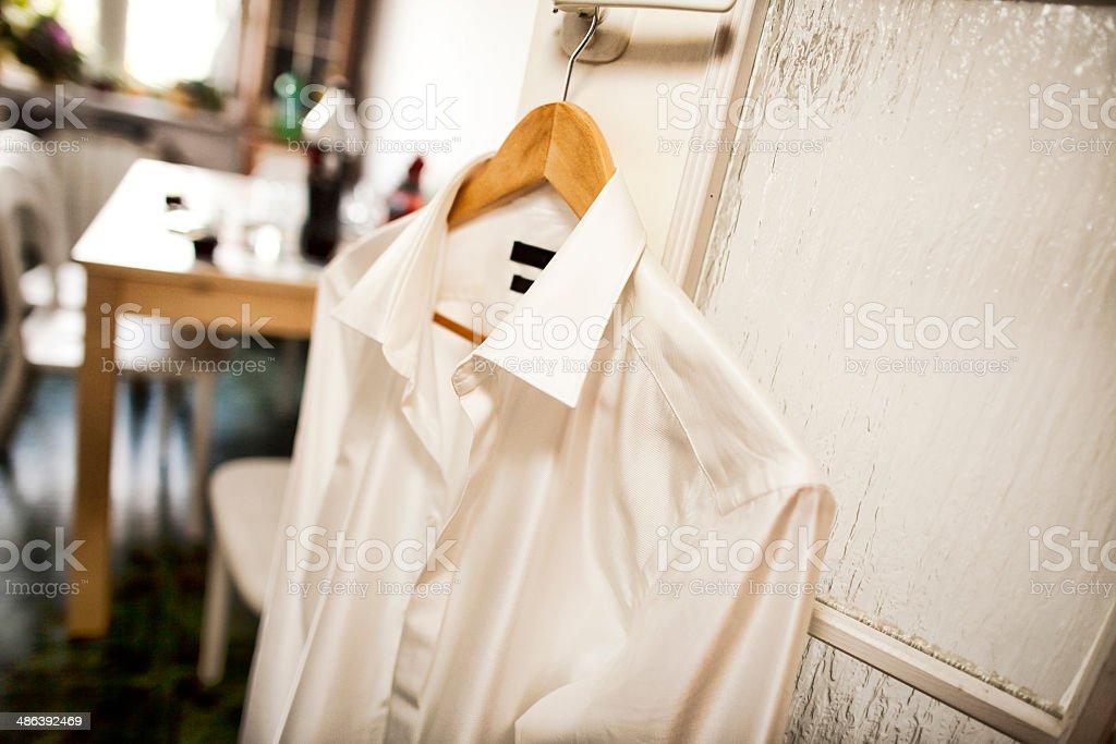 Wedding shirt stock photo