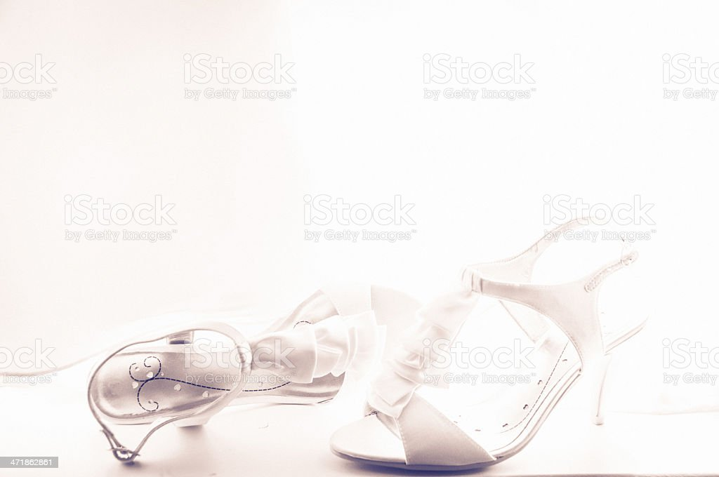 Wedding shoes, close-up royalty-free stock photo