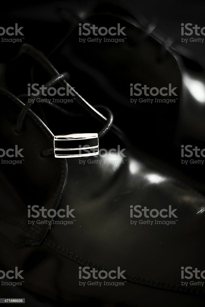 Wedding shoes detail royalty-free stock photo
