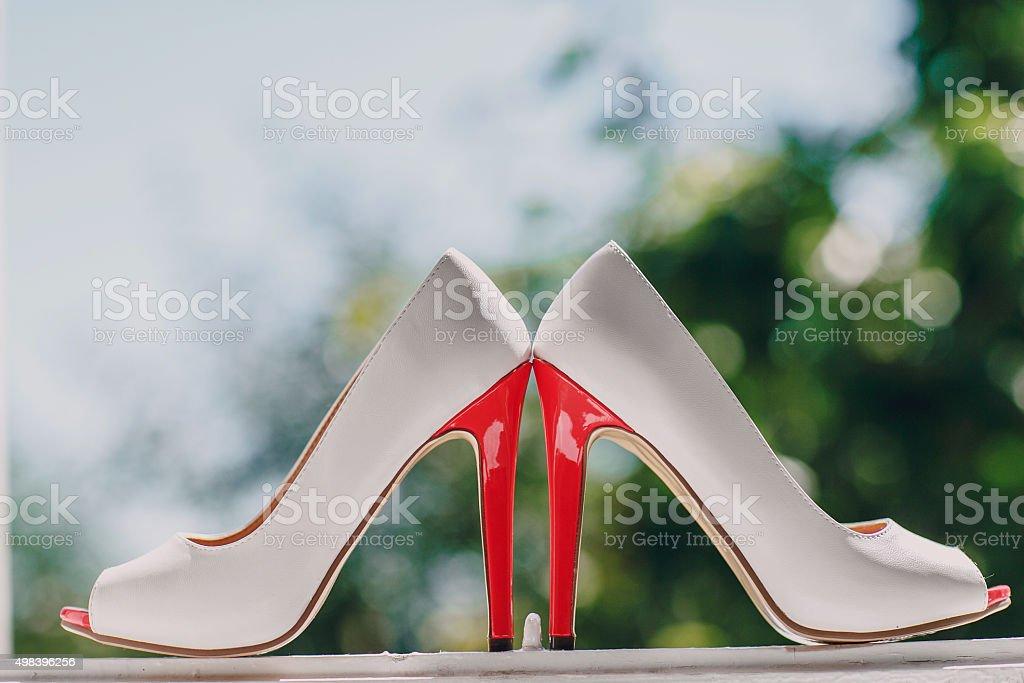 wedding shoes HD stock photo