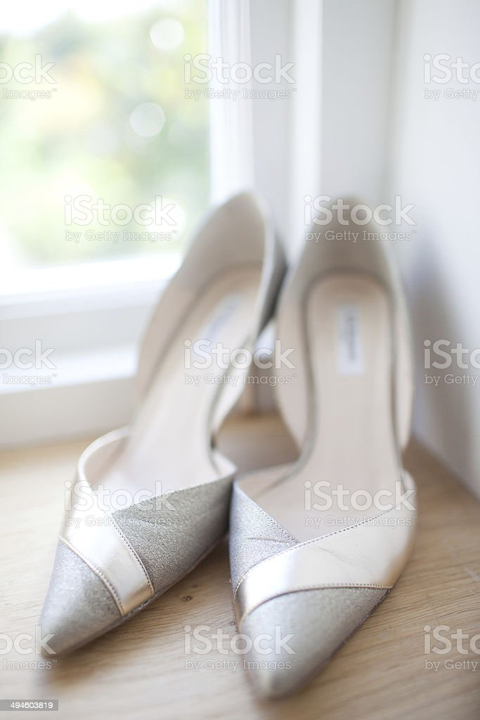 Wedding Shoes royalty-free stock photo
