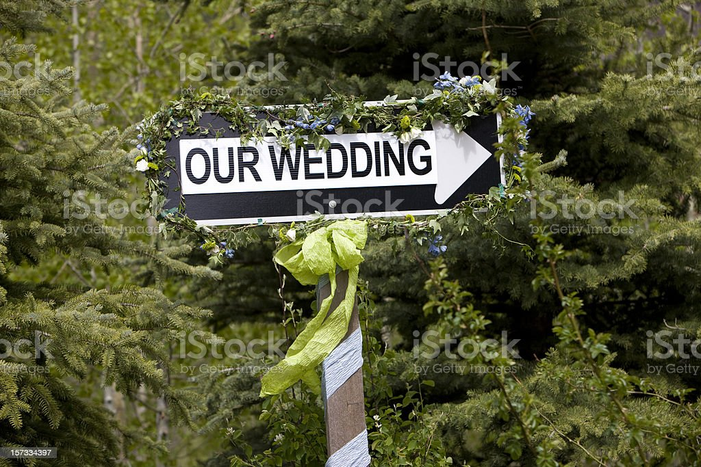 Wedding sign royalty-free stock photo