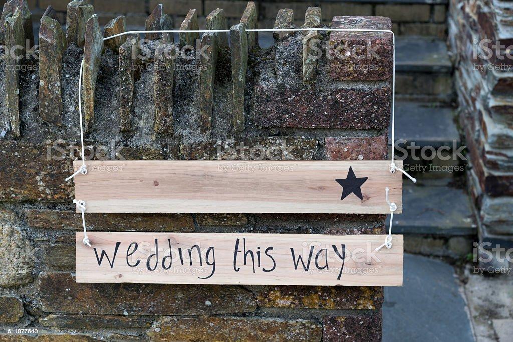Wedding Sign royalty-free stock photo