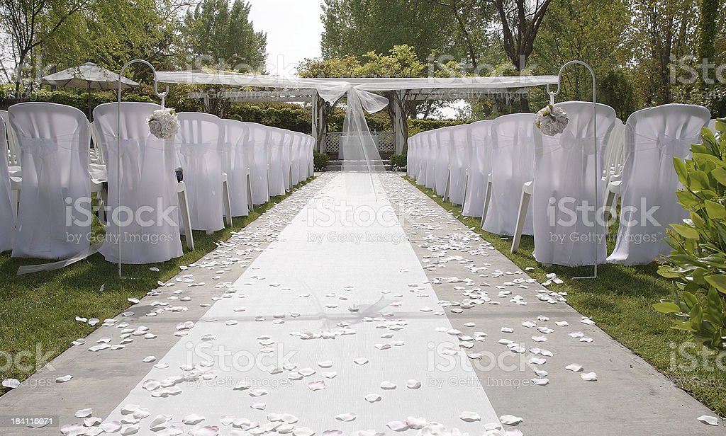 Wedding site royalty-free stock photo