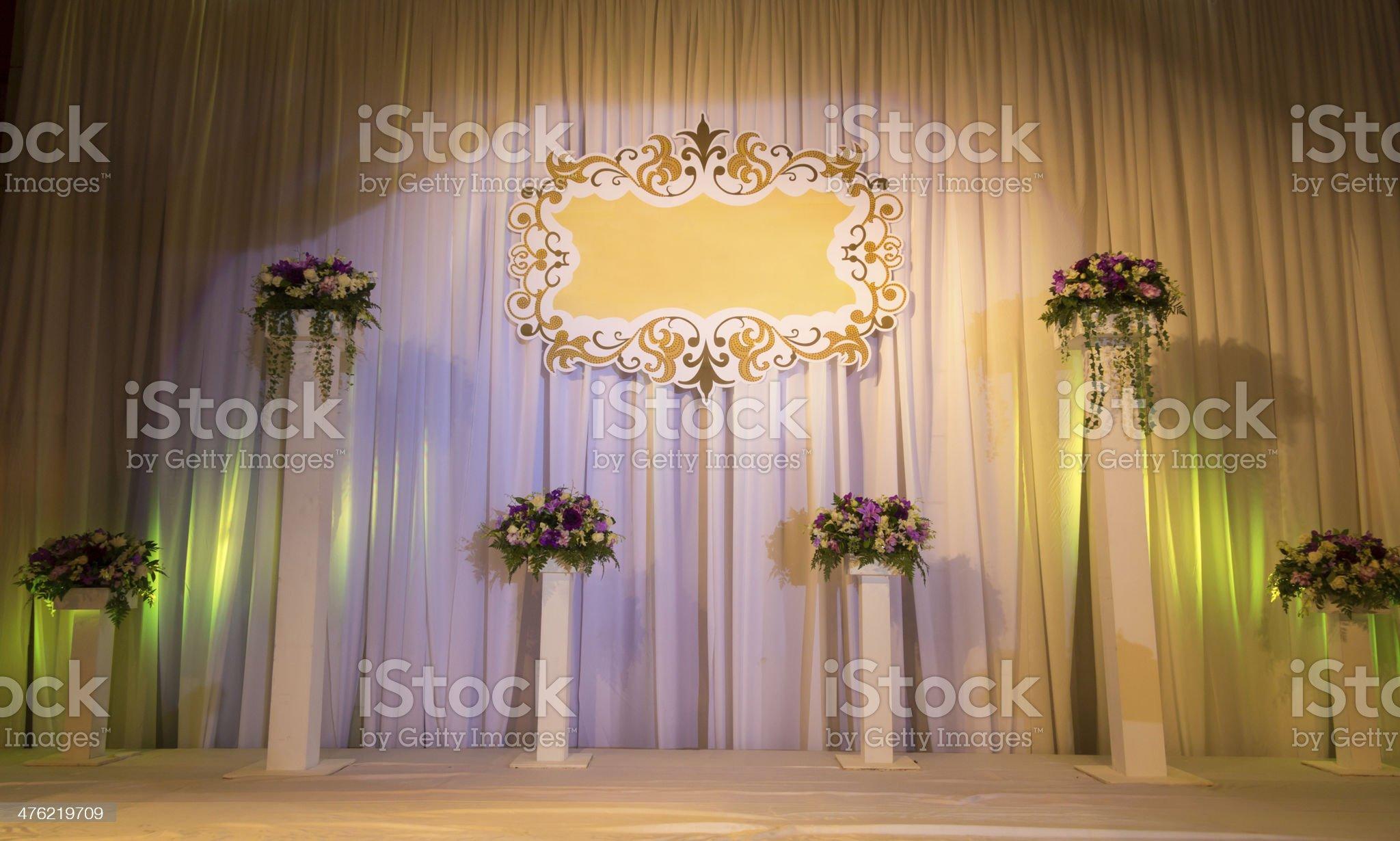 Wedding Stage royalty-free stock photo