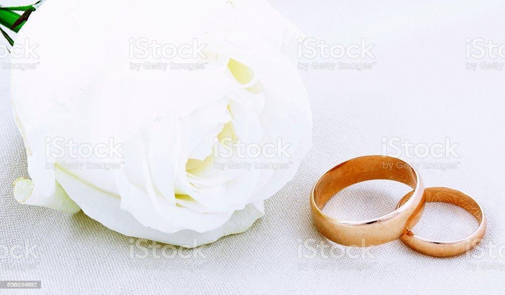 Wedding still life stock photo