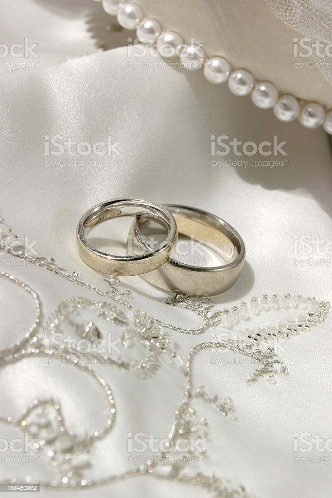 wedding still life with rings royalty-free stock photo