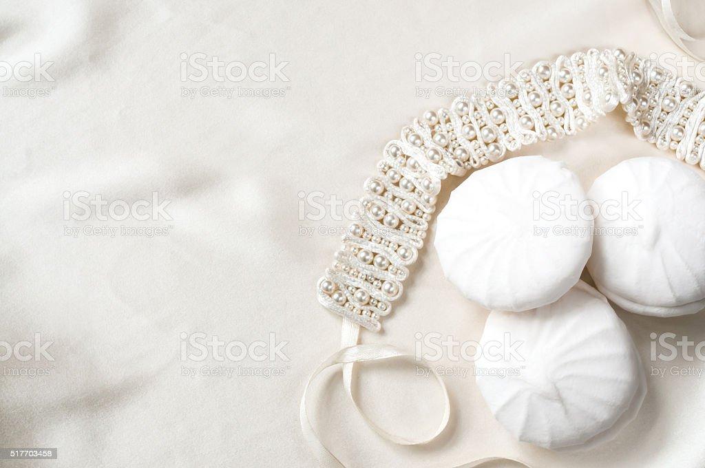 Wedding sweet background stock photo