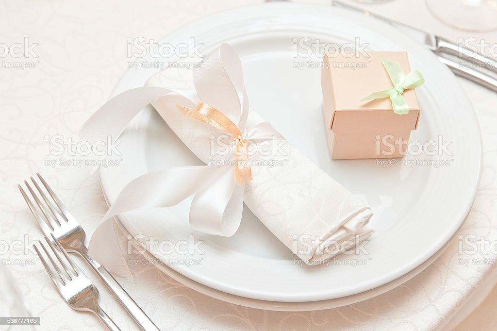 table de mariage pour prendre rendez-vous photo libre de droits