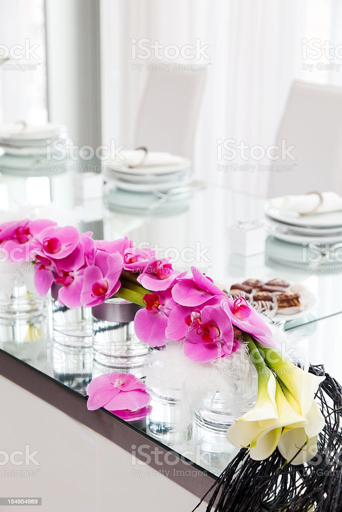 wedding table decoration royalty-free stock photo