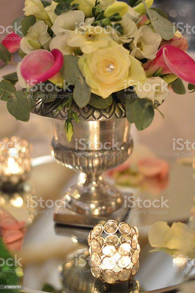 Wedding Table decoration stock photo