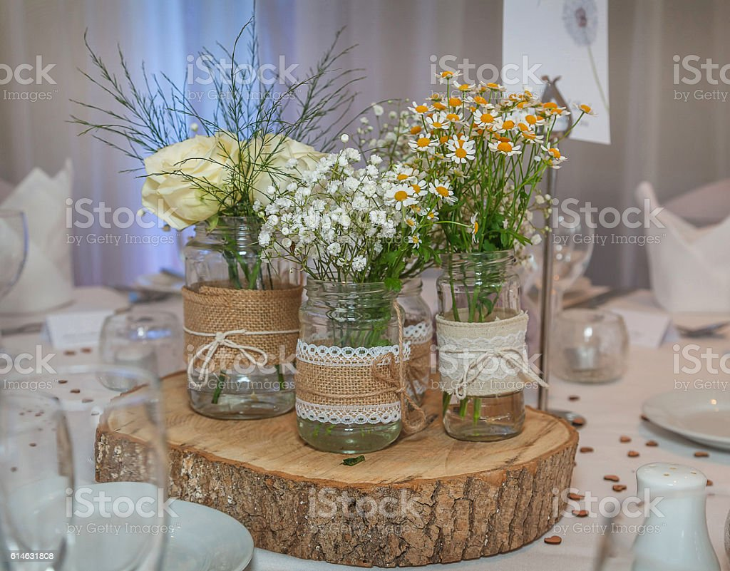 Wedding Table Decorations stock photo