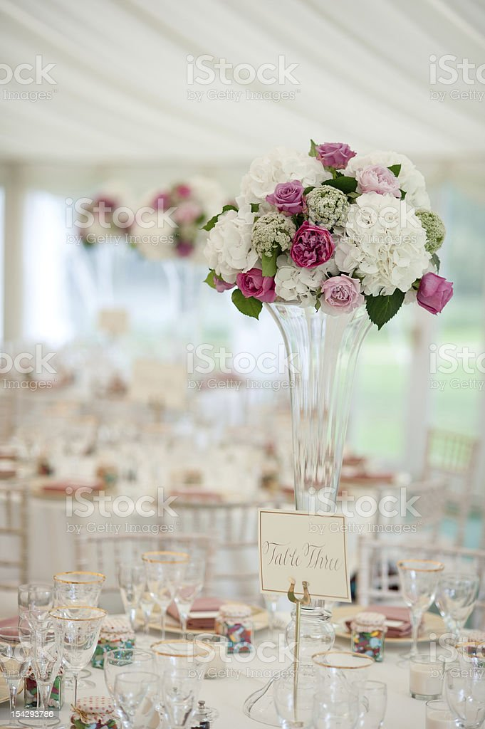 wedding table flowers royalty-free stock photo