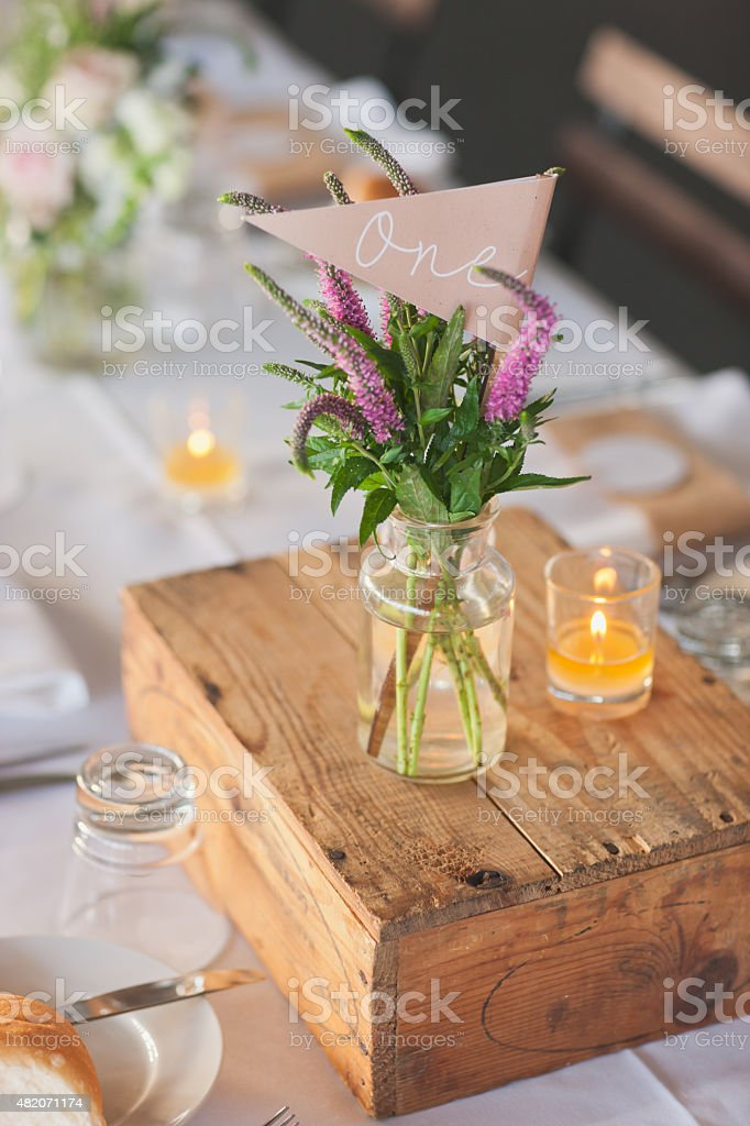 Wedding Table Number stock photo