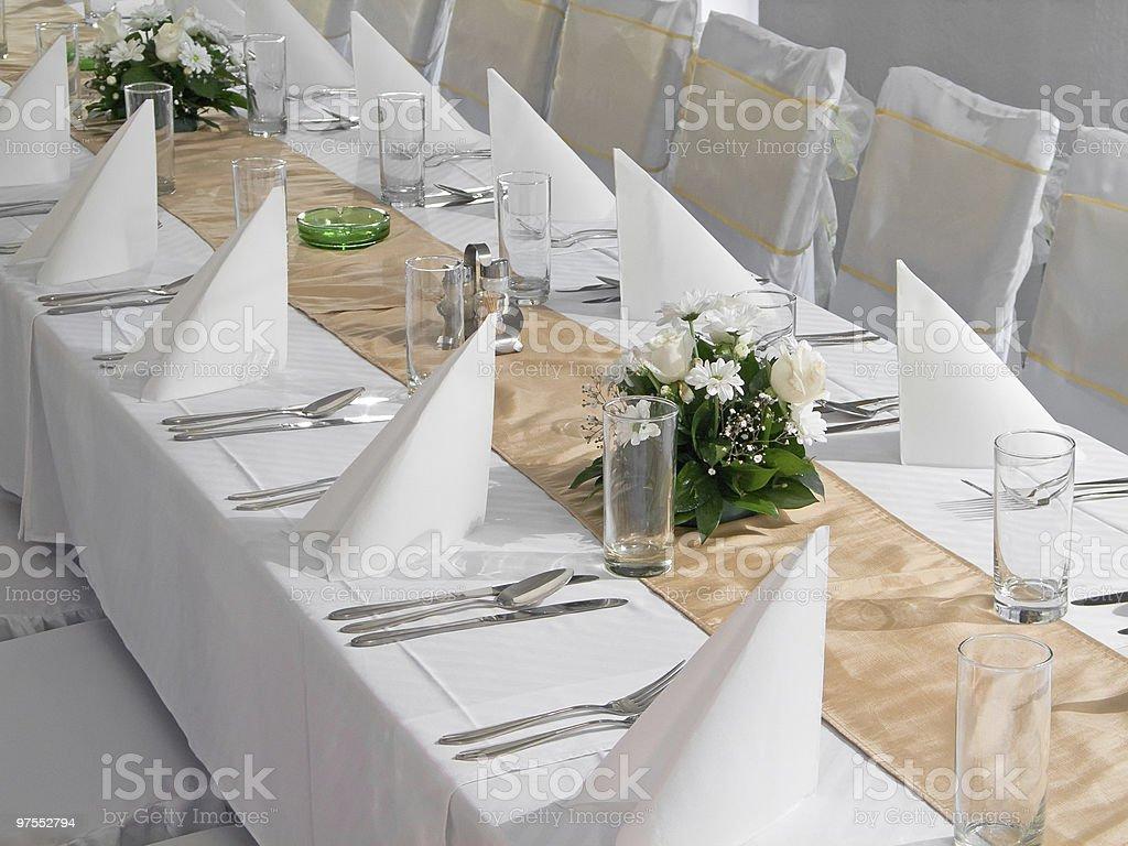 Wedding table royalty-free stock photo
