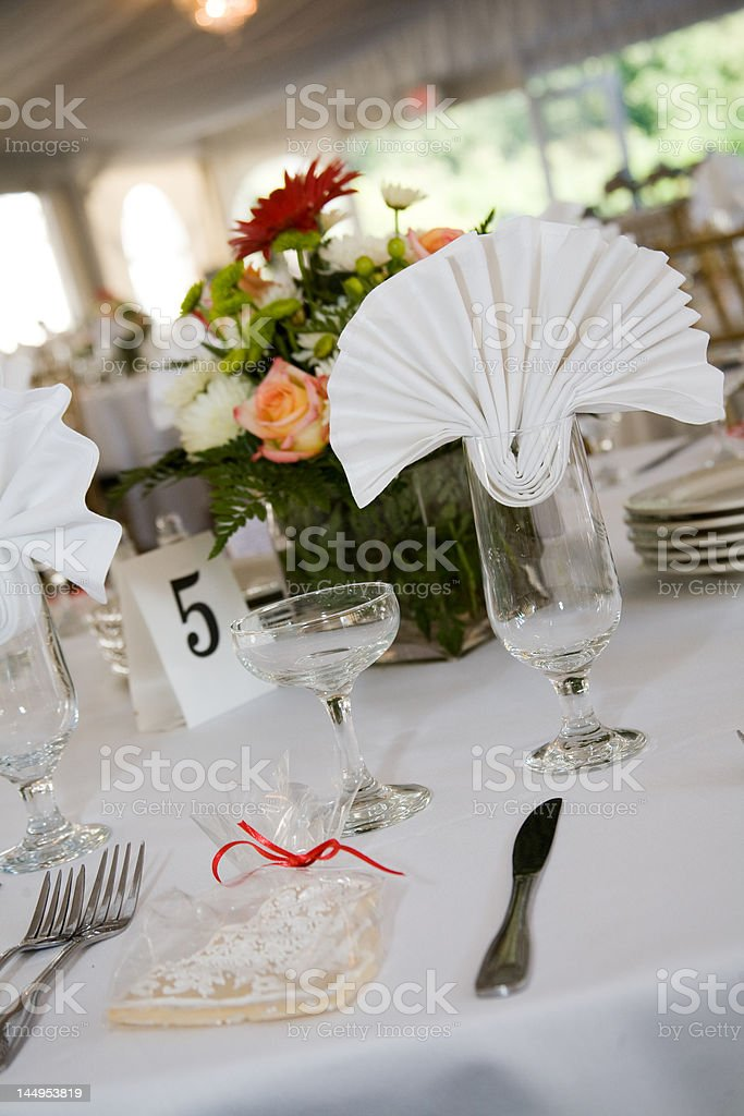 Wedding table setting for dinner royalty-free stock photo