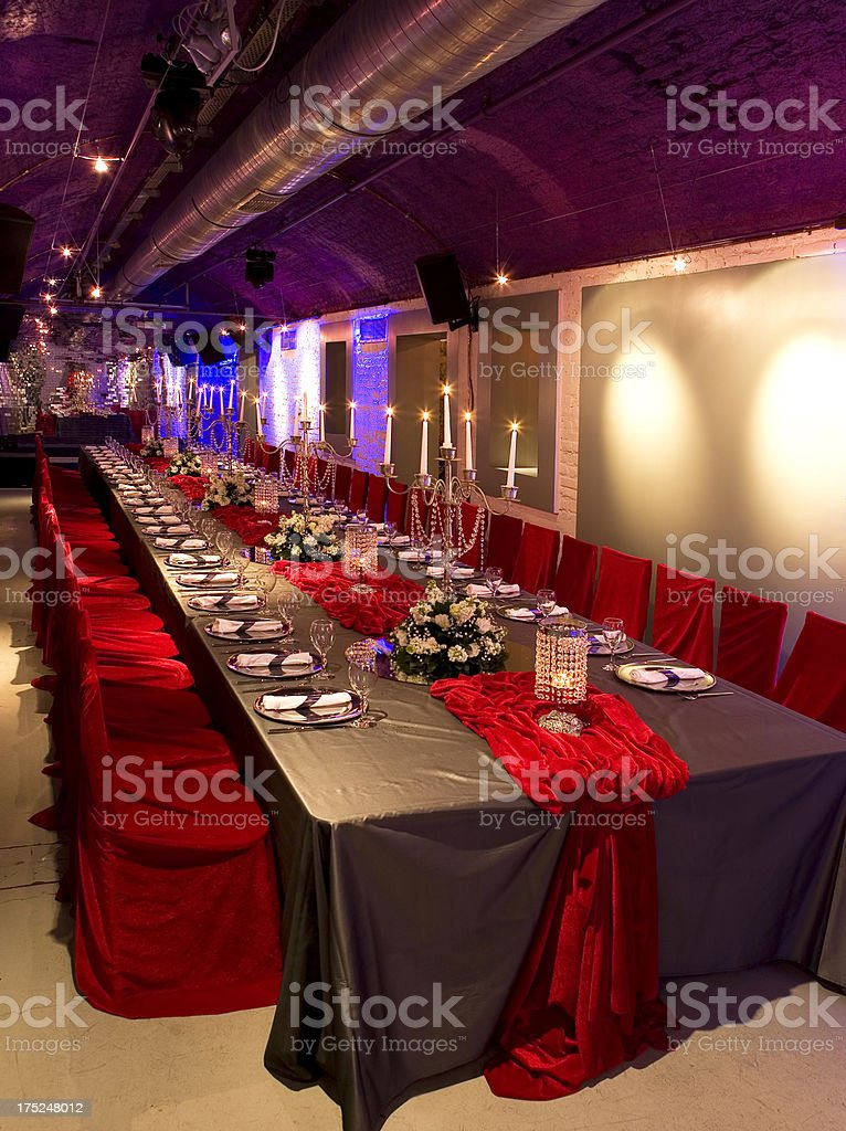 wedding table setting royalty-free stock photo