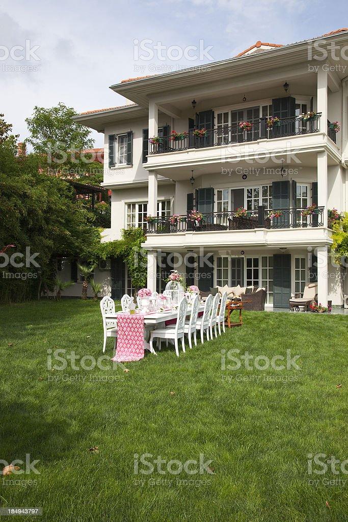 Wedding Table Settings royalty-free stock photo