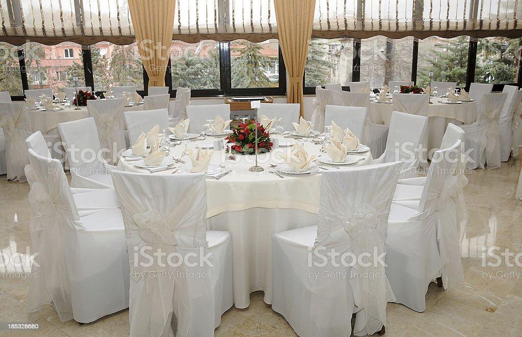 Wedding Table Settings stock photo