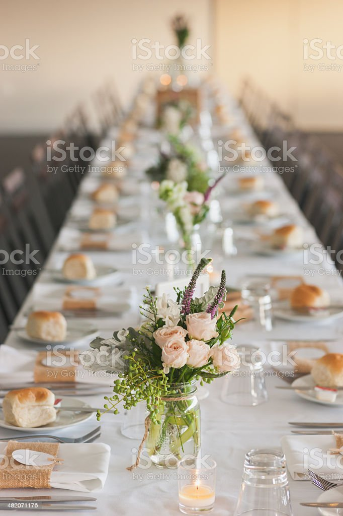 Wedding Table Settings stock photo