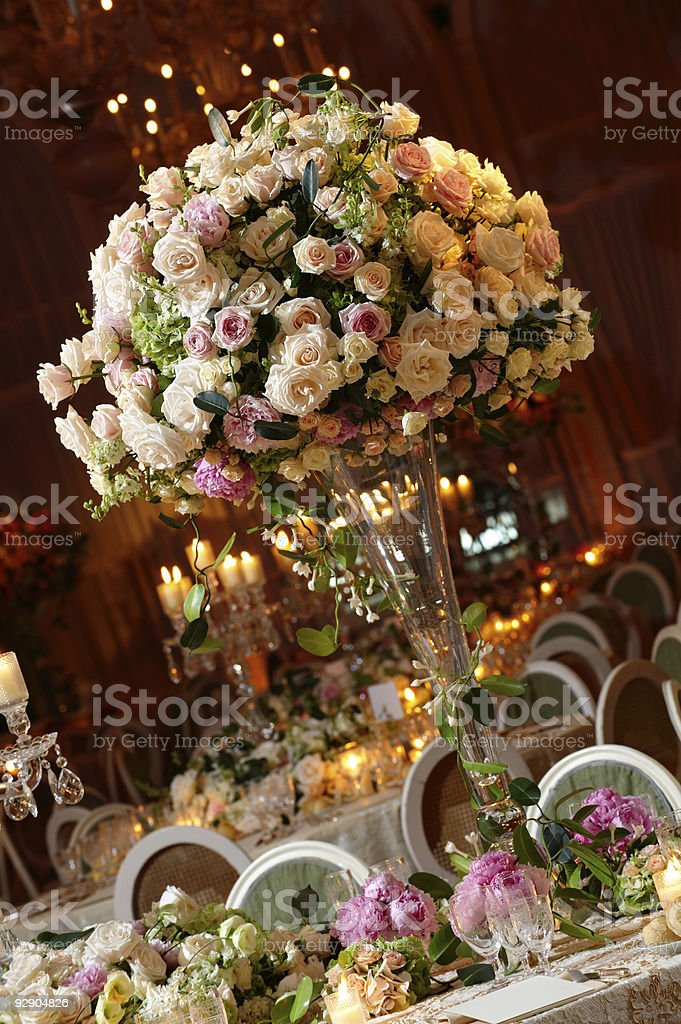 wedding table2 royalty-free stock photo