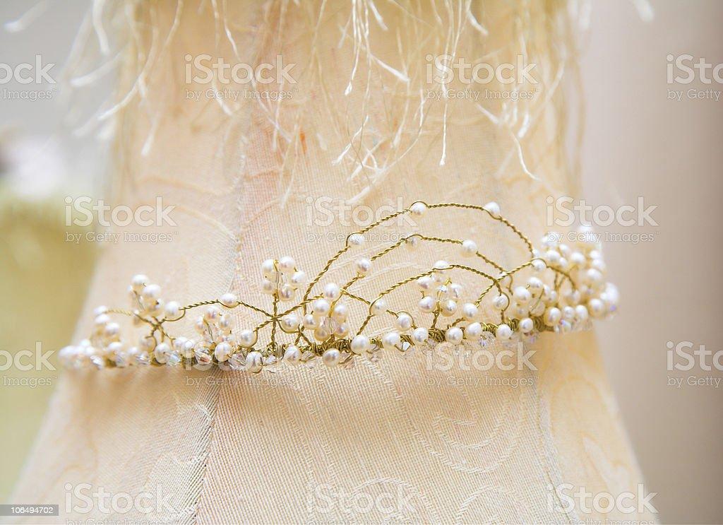 Wedding tiara stock photo
