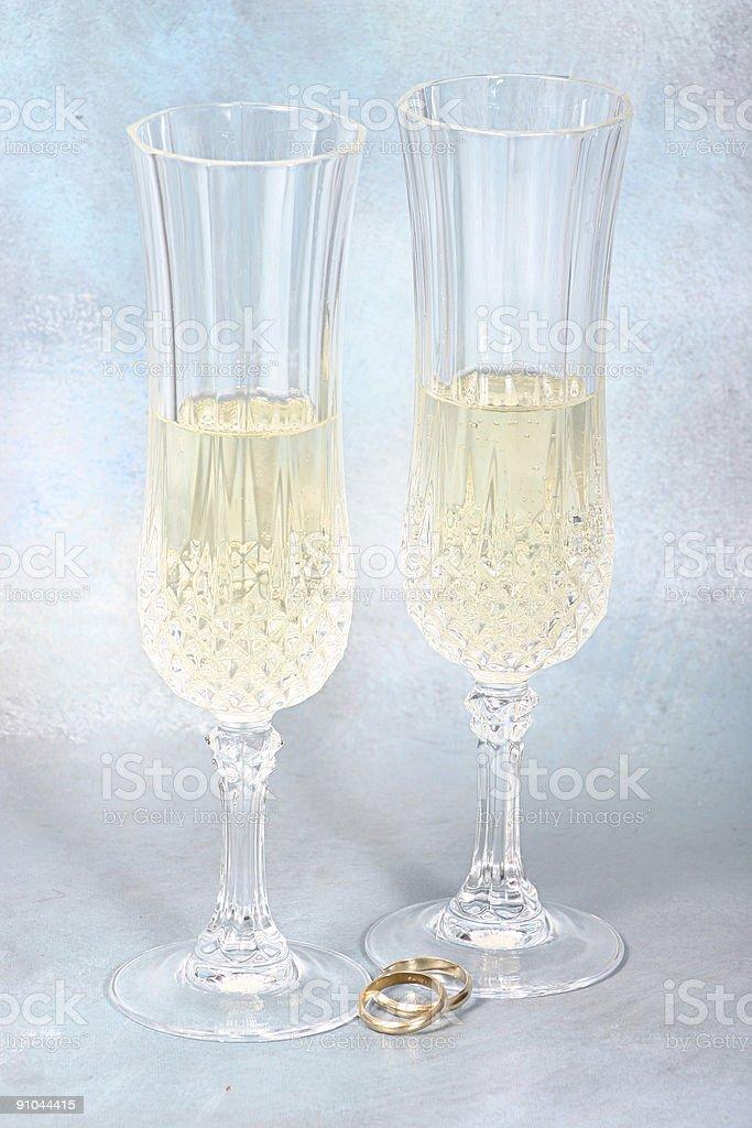 Wedding Toast royalty-free stock photo