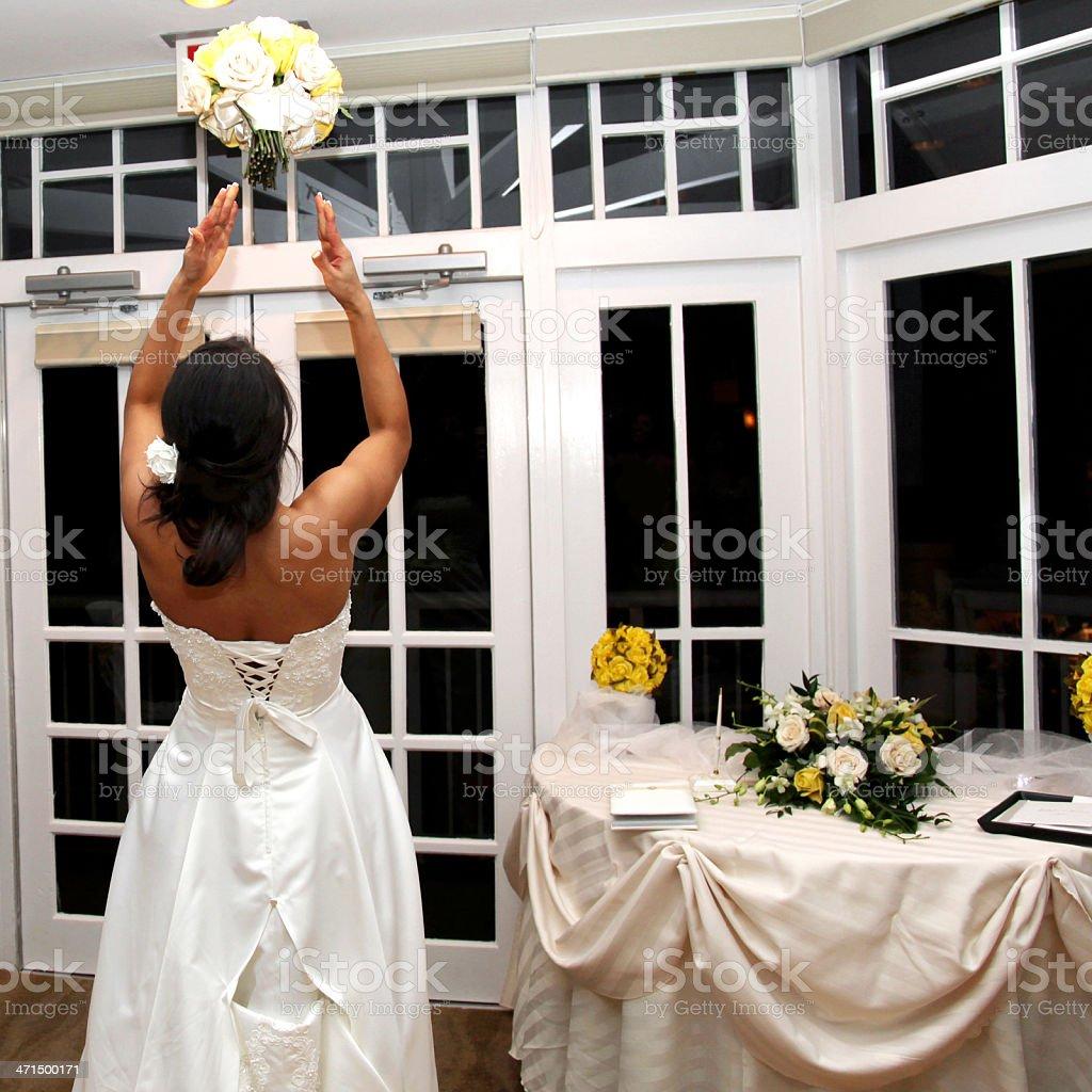 Wedding Toss stock photo