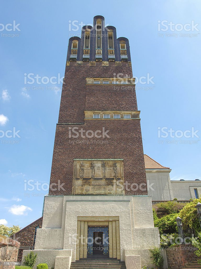 Wedding Tower in Darmstadt stock photo
