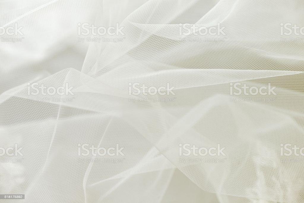 Wedding tulle or chiffon background stock photo