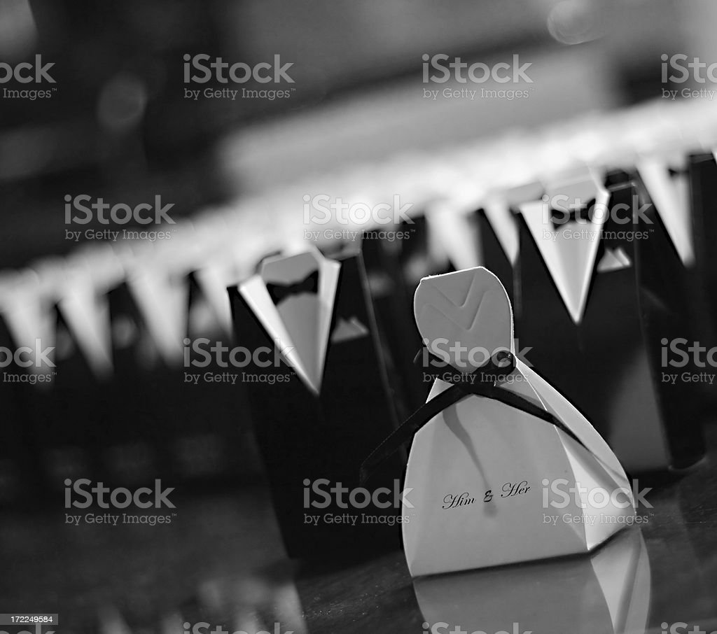 wedding tux n gown stock photo