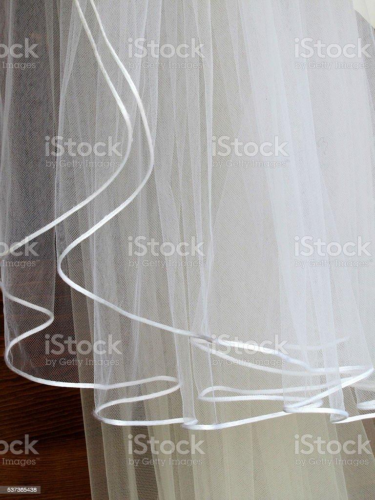 wedding veil stock photo