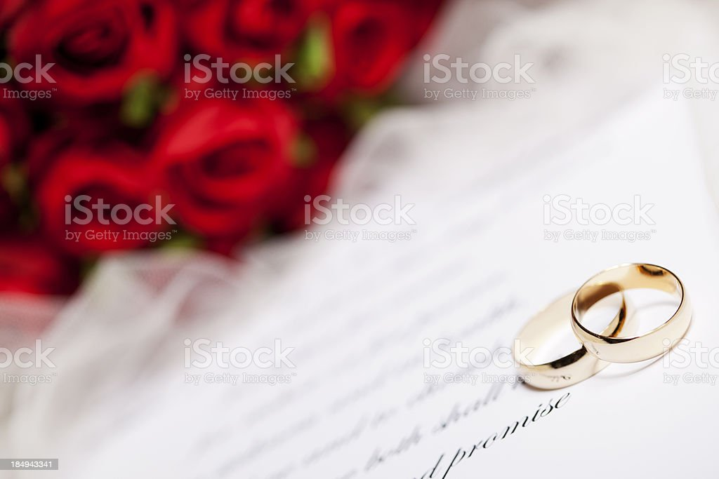 Wedding Vows and Rings royalty-free stock photo