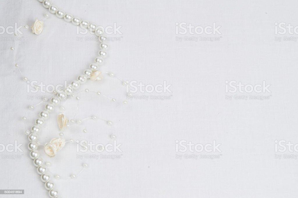 Wedding white lace background stock photo