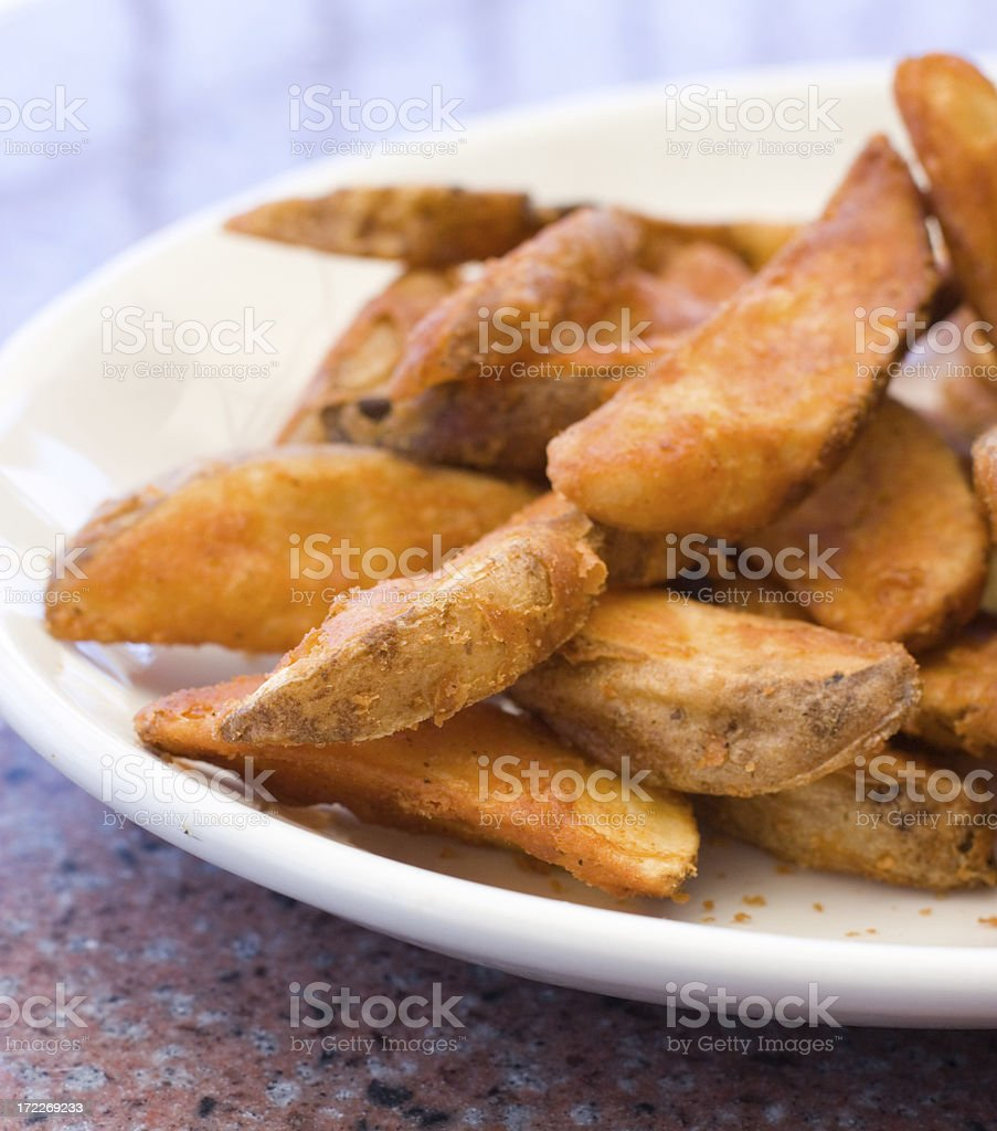 Wedge Fries royalty-free stock photo