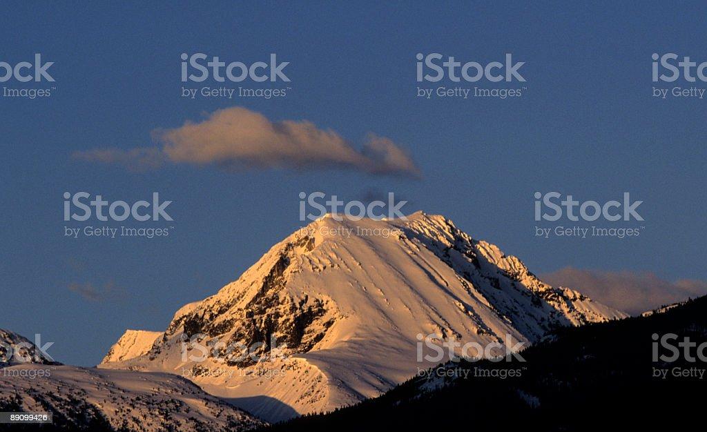 Wedge Mountain stock photo