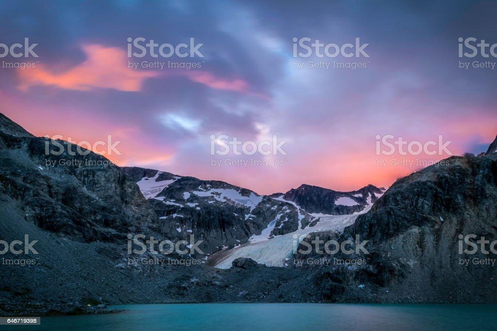 Wedge Mountain Sunrise stock photo
