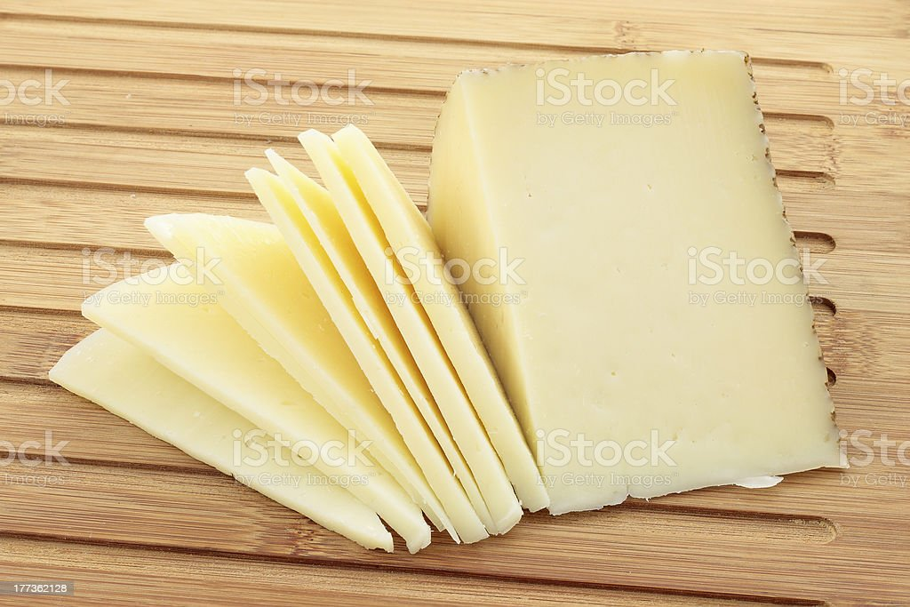 Wedge of cheese cut royalty-free stock photo