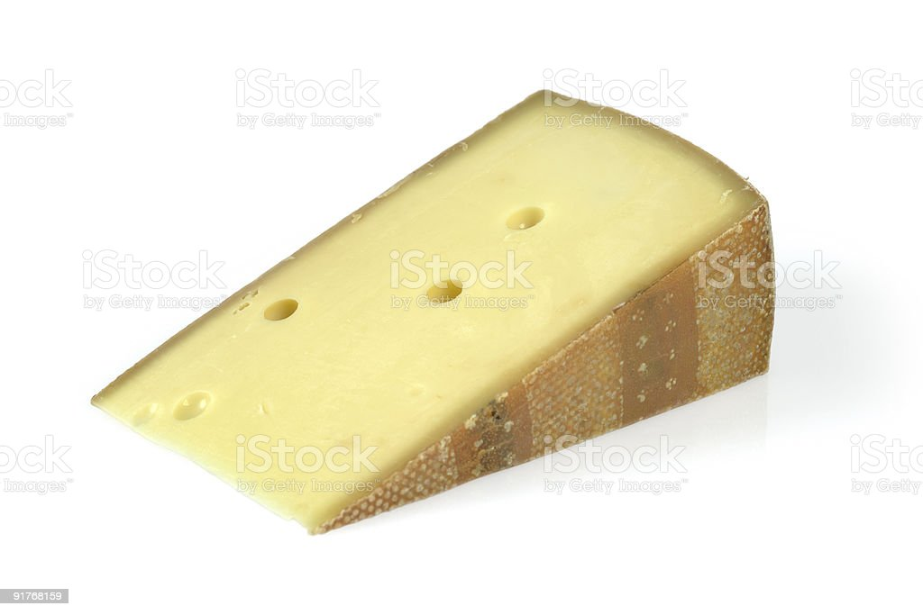 Wedge of cheese royalty-free stock photo