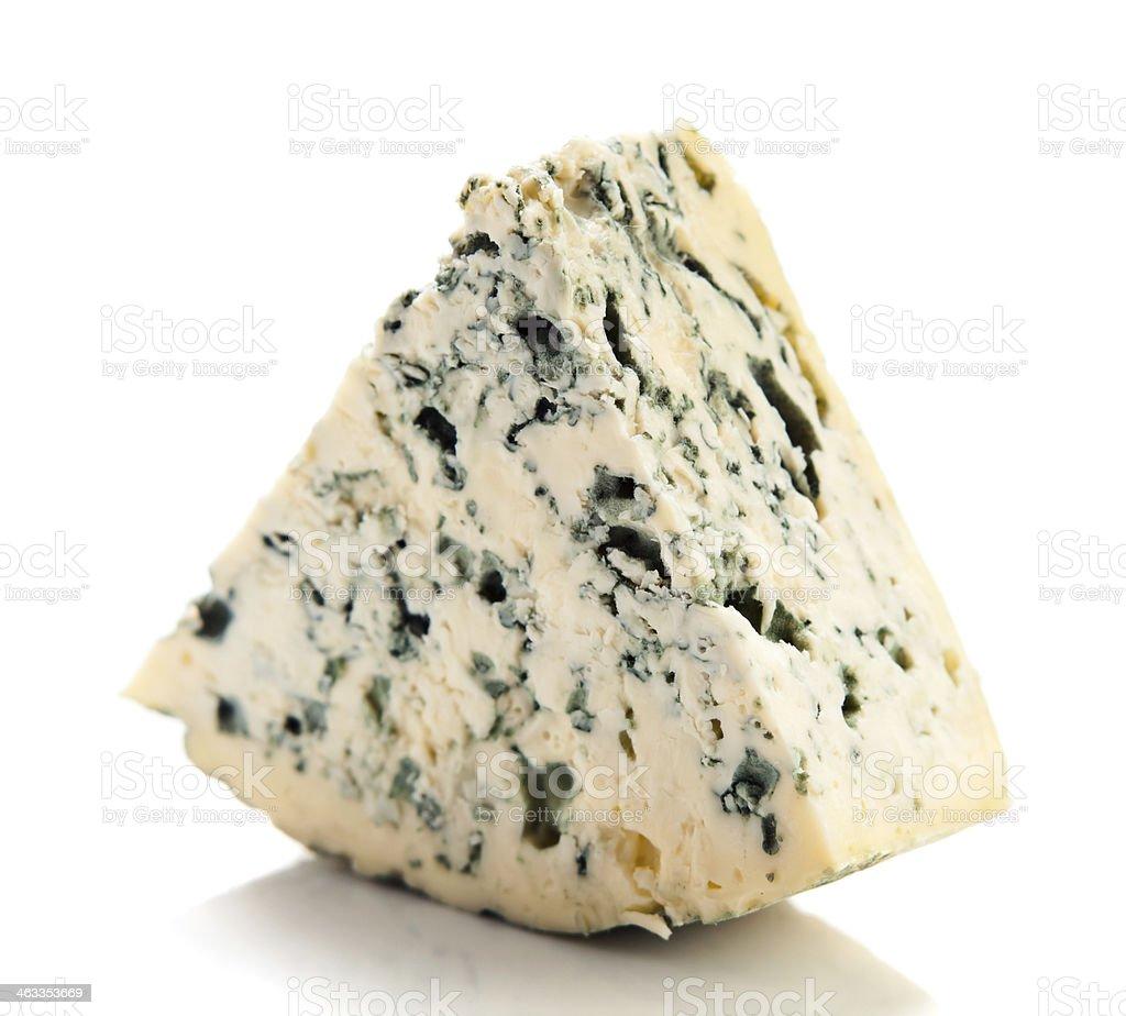 Wedge of gourmet cheese stock photo