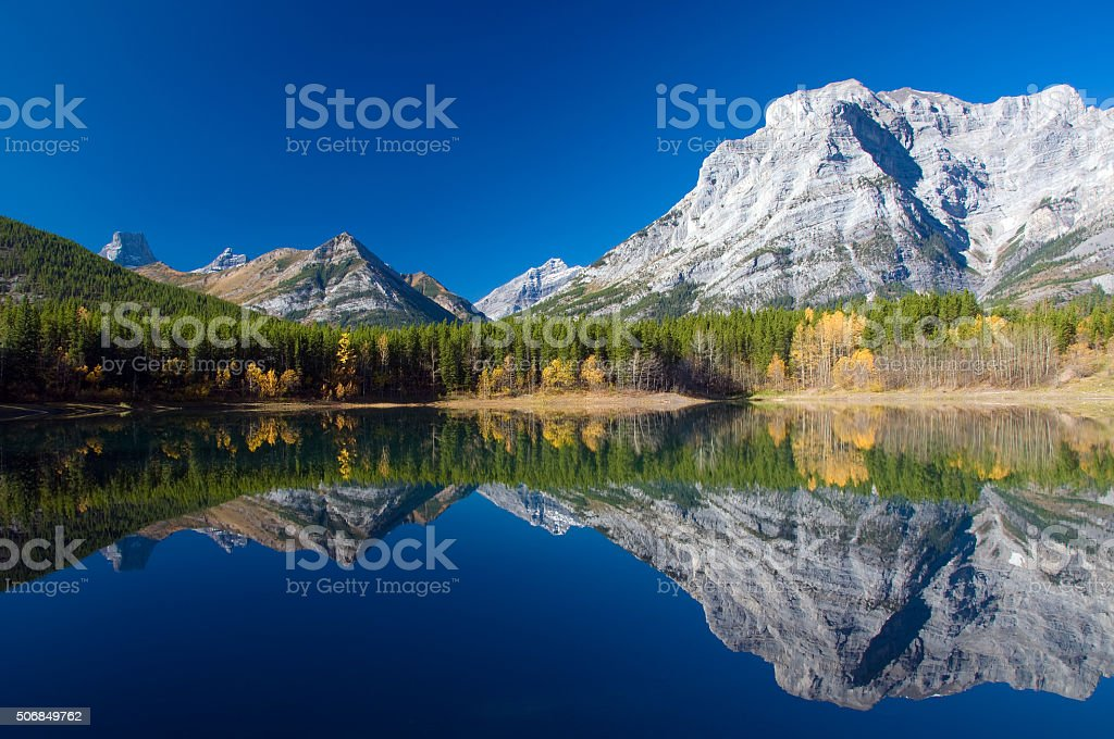 Wedge Pond, Kananaskis, Alberta stock photo
