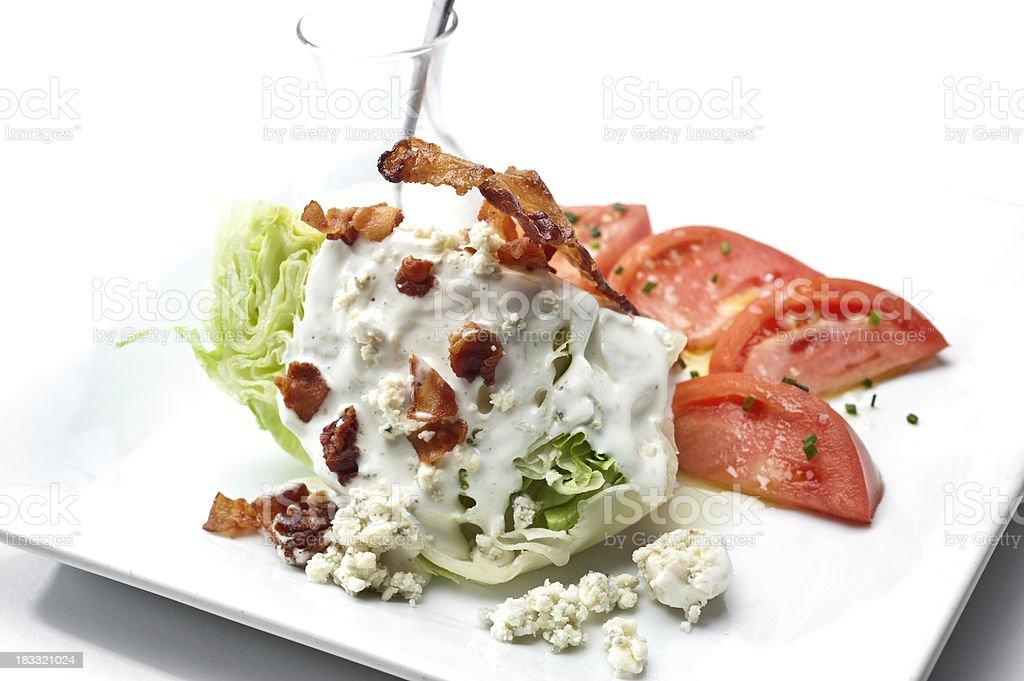 Wedge salad close up stock photo