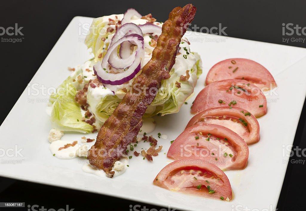 Wedge Salad stock photo