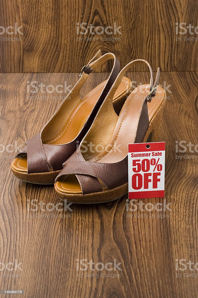 wedges in shop royalty-free stock photo