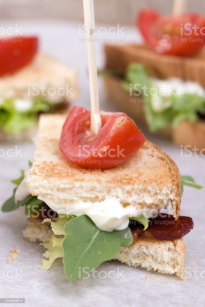 BLT wedges royalty-free stock photo