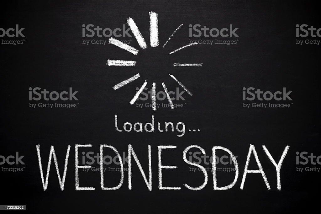 Wednesday- loading stock photo