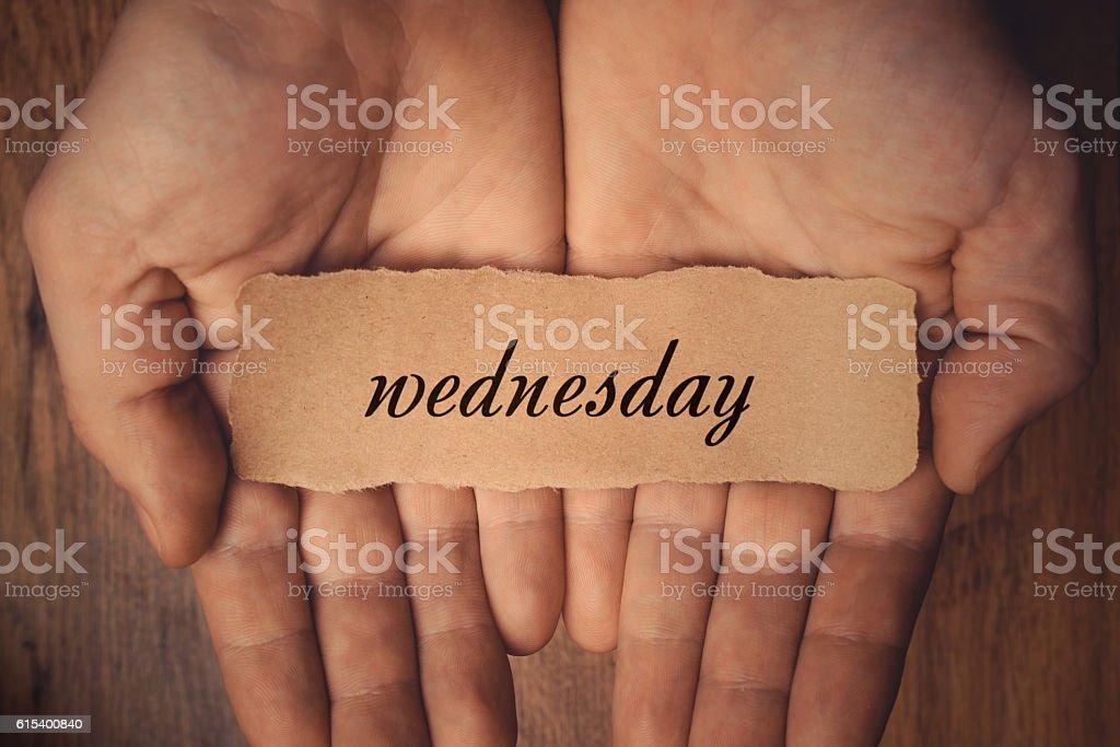 Wednesday stock photo